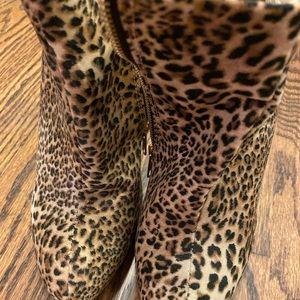 Diba leopard print booties